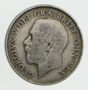 SILVER - Roughly the Size of a Quarter 1922 Great Britain 1 Shilling - World Silver Coin 5.8 Grams!