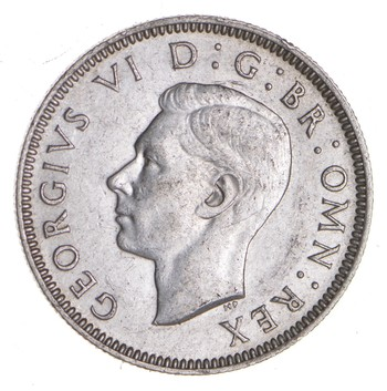 SILVER - Roughly the Size of a Quarter 1942 Great Britain 1 Shilling - World Silver Coin