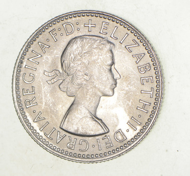 SILVER - Roughly the Size of a Quarter 1960 Australia 1 Shilling - World Silver Coin