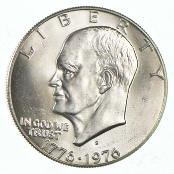 Silver - SPECIALLY MINTED - S Mint Mark - 1776-1976-S - 40% Eisenhower Silver Dollar - RARE