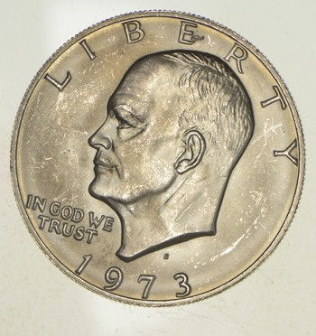 Silver - SPECIALLY MINTED - S Mint Mark - 1973-S - 40% Eisenhower Silver Dollar - RARE