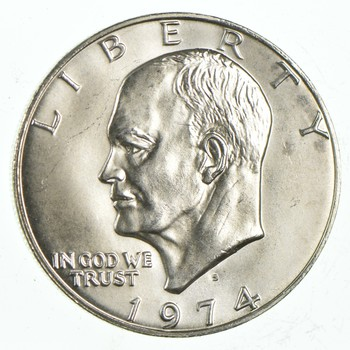 Silver - SPECIALLY MINTED - S Mint Mark - 1974-S - 40% Eisenhower Silver Dollar - RARE