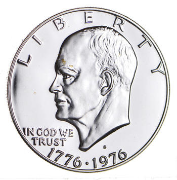 Silver - SPECIALLY MINTED - S Mint Mark - 1976 -S - 40% Eisenhower Silver Dollar - RARE