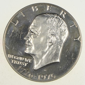 Silver - SPECIALLY MINTED - S Mint Mark - 1976-S - 40% Eisenhower Silver Dollar - RARE