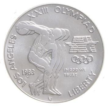 SILVER Unc 1983-P Los Angeles Olympiad Commemorative US Silver Dollar - 90% Silver - Collectible