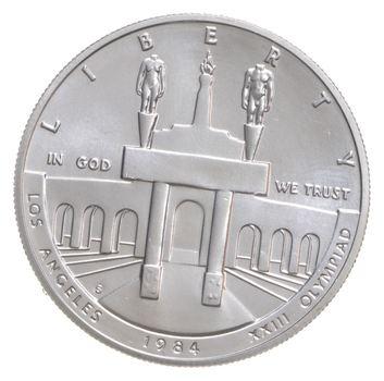 SILVER Unc 1984-S Los Angeles Olympiad Commemorative US Silver Dollar - 90% Silver - Collectible