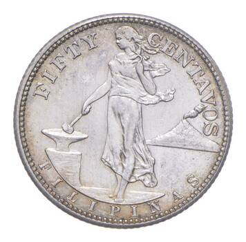 SILVER - WORLD Coin - 1944 Philippines 50 Centavos - World Silver Coin