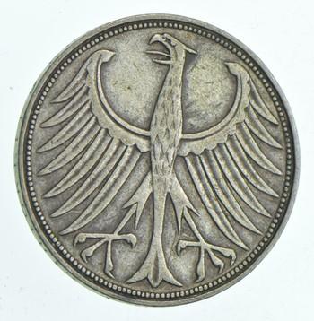 SILVER - WORLD Coin - 1951 Germany 5 Mark - World Silver Coin 11.2 Grams!