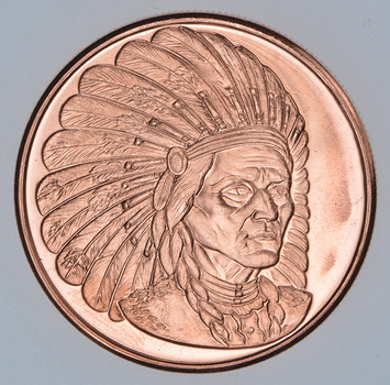 Sitting Bull - Native American Series - 1 Oz .999 Fine Copper Round