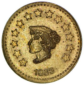 Souvenir Tribute Token - California Gold Rush - 1853 Liberty Head