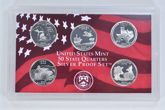 Special 90% Silver 2004-S 5 Coin State Quarter Proof Set
