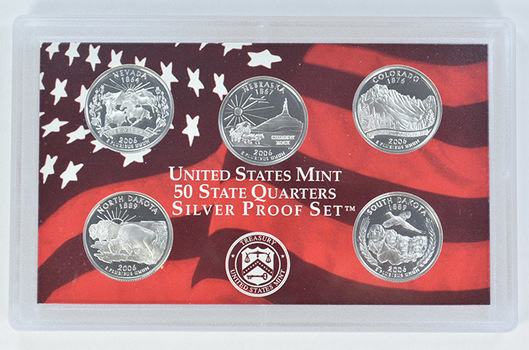 Special 90% Silver 2006-S 5 Coin State Quarter Proof Set