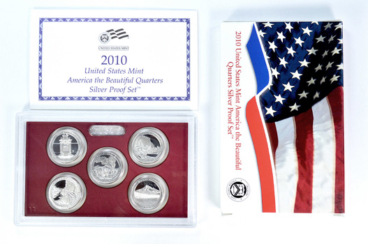 Special 90% Silver 2010-S 5 Coin America The Beautiful Quarter Proof Set