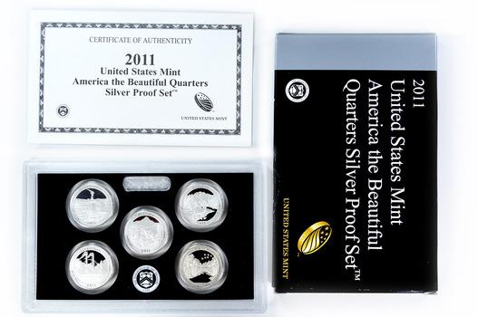 Special 90% Silver 2011-S 5 Coin National Park Quarter Proof Set