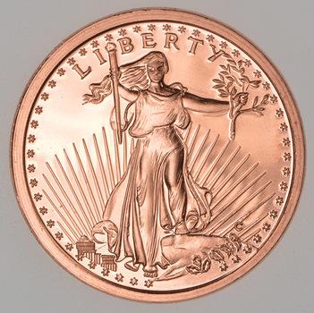 St. Gaudens - Tribute Series - 1 Oz .999 Fine Copper Round