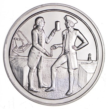 Sterling Silver - Early American History - - 0.925 Silver - 31.4 Grams Round