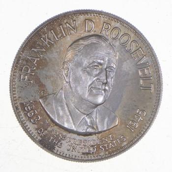 Sterling Silver - Franklin D. Roosevelt - - 925 - 7.5 Grams Round/Art Bar