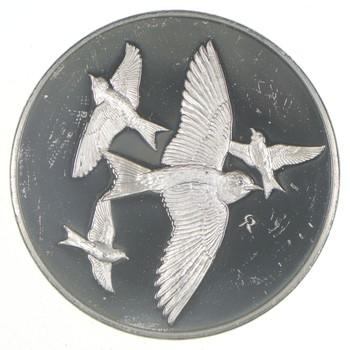 Sterling Silver - Purple Martin - - 0.925 Silver - 66.1 Grams Round