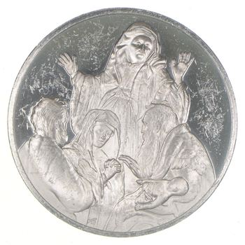 Sterling Silver - The Presentation In The Temple - - 0.925 Silver - 67 Grams Round