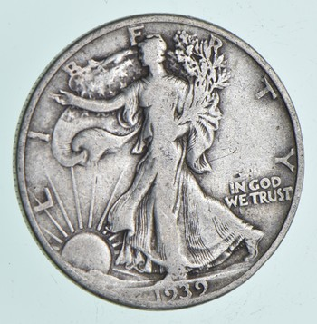 Strong Feather Details - 1939 Walking Liberty Half Dollar