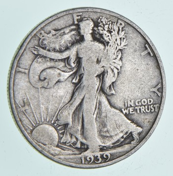 Strong Feather Details - 1939-D Walking Liberty Half Dollar