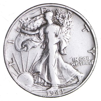 Strong Feather Details - 1941-S Walking Liberty Half Dollar