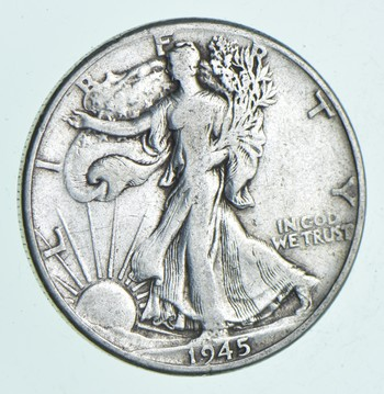 Strong Feather Details - 1945 Walking Liberty Half Dollar