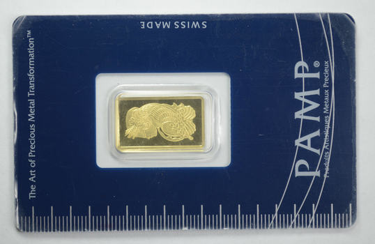 Suisse 2.5 Grams Fine Gold Bar - With Original Packaging & COA