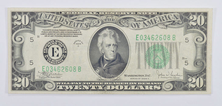 SWEET - Better 1934 $20.00 US Federal Reserve Note