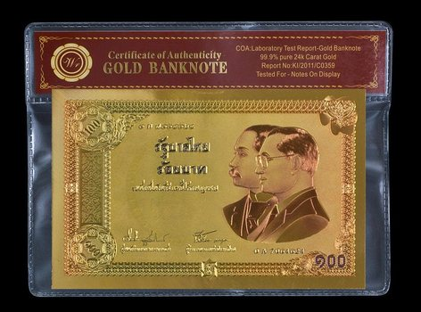 Thailand 100 Baht 2002 Commemorative- Beautifully Displayed Replica Bank Note