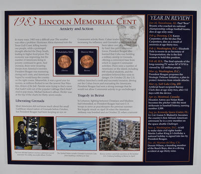 The Lincoln Bicentennial Coin Collection Series - 1983 Lincoln Cents - With Historic Display