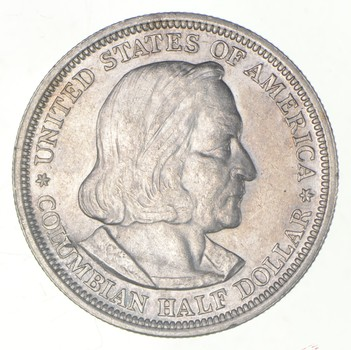 TOUGH - 1893 Silver Columbian Exposition U.S. Commemorative Half Dollar