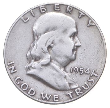 Tough 1954-S Franklin 90% Silver US Half Dollar