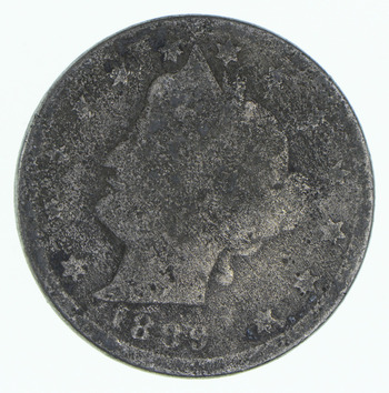 TOUGH Date 1889 Liberty V Nickel - Difficult - High Retail Value