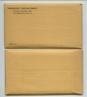 Tough Date 1956 Silver Unopened (Envelope Sealed) U.S. Proof Set - May Contain One or More Very Valuable Coins