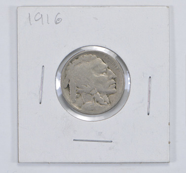 Tough - First Decade Minted - 1916 Buffalo Nickel - Look It Up!