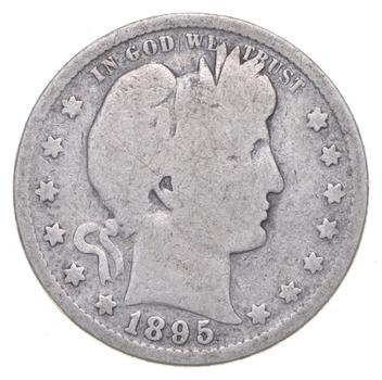 Tough - US 1895-S Barber Silver Quarter - 90% Silver - Look it up!