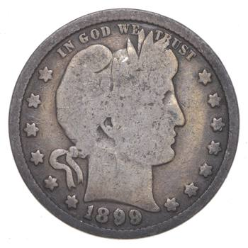Tough - US 1899 Barber Silver Quarter - 90% Silver - Look it up!