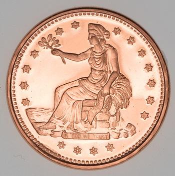 Trade Dollar - .999 Fine Copper 1 Oz Round