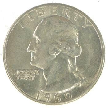Unc 1960 Washington 90% Silver United States Quarter