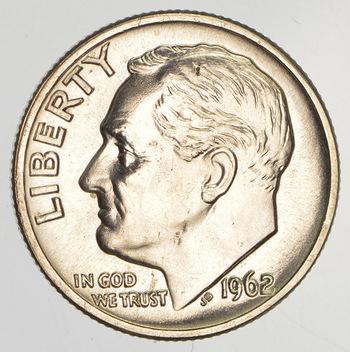 Unc - 1962-D Roosevelt Silver Dime