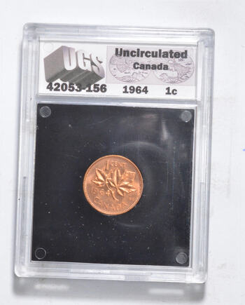 UNC 1964 Canada 1 Cent - Graded UGS