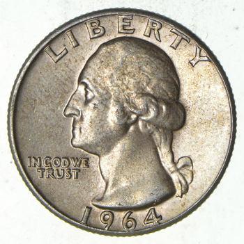 Unc 1964 Washington 90% Silver United States Quarter