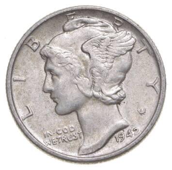 Unc BU MS 1942 - US Mercury 90% Silver Dime Coin Collection Lot Set Break