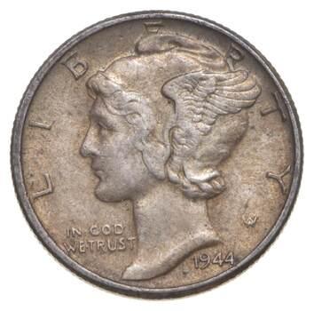 Unc BU MS 1944 - US Mercury 90% Silver Dime Coin Collection Lot Set Break