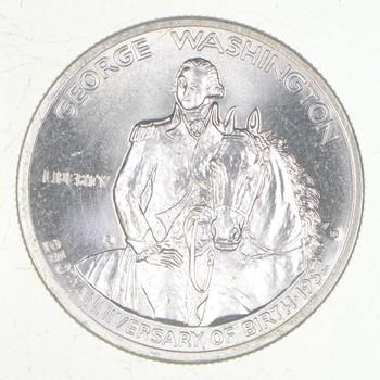 Unc BU MS 1982-D George Washington 250th Anniversary - United States Mint HALF DOLLAR Commemorative