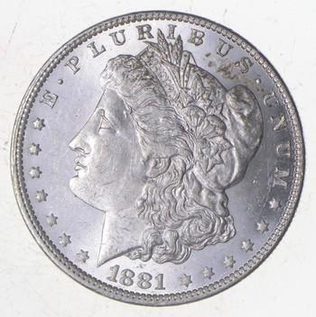 Unc Uncirculated 1881-O Morgan Silver Dollar - $1.00 Mint State MS BU