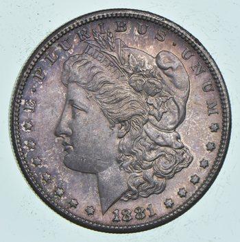Unc Uncirculated 1881-S Morgan Silver Dollar - $1.00 Mint State MS BU