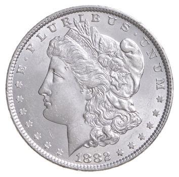 Unc Uncirculated 1882 Morgan Silver Dollar - $1.00 Mint State MS BU