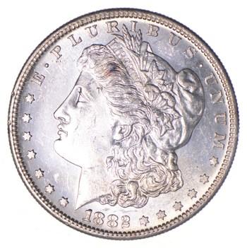Unc Uncirculated 1882-S Morgan Silver Dollar - $1.00 Mint State MS BU